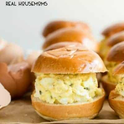 Easy Mini Egg Salad Sliders