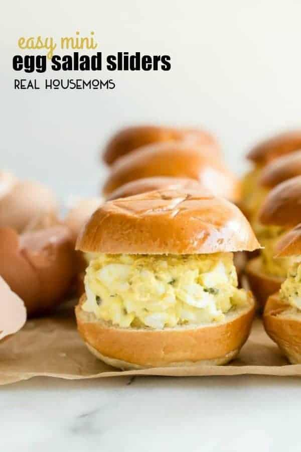 These EASY MINI EGG SALAD SLIDERS use a 3-ingredient egg salad for a bite that's perfect for summer bbq parties or picnics in the park. Everyone loves a good egg salad!