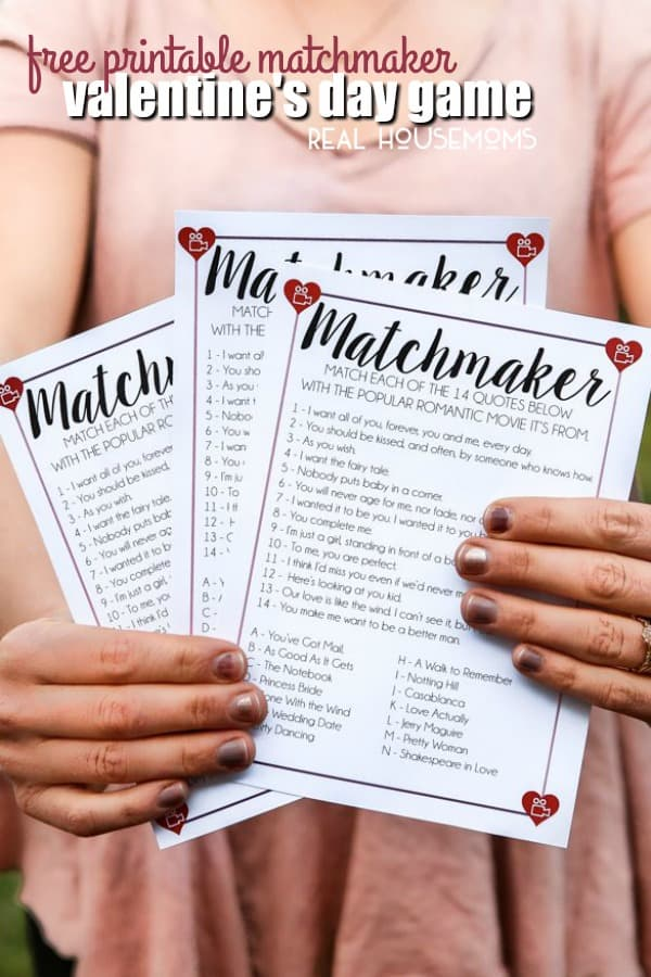 picture relating to Make Your Own Matching Game Printable referred to as Totally free Printable Matchmaker Valentines Working day Activity ⋆ Genuine Housemoms