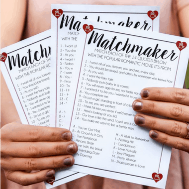 Free Printable Matchmaker Valentine's Day Game