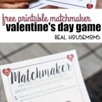 This Free Printable Matchmaker Valentine's Day Game is a fun way to entertain guests at a Valentine's Day party or even just challenge your own significant other! Test your movie quote knowledge by trying to match 14 popular love quotes to their matching romantic movies.