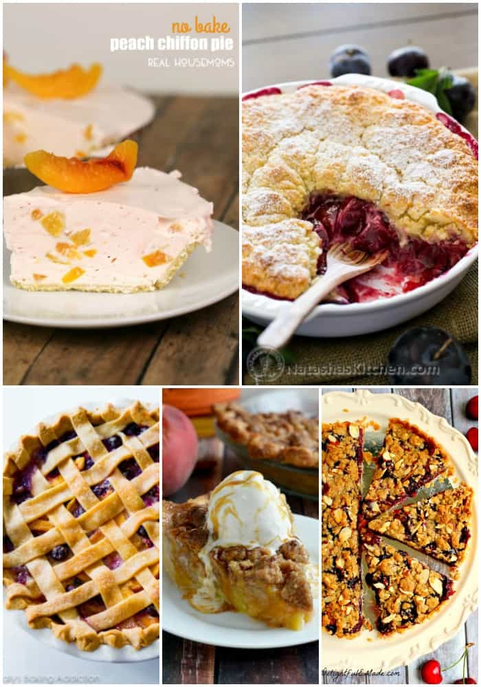 No matter which fruits are your favorite, you'll find a pie to please your palate in this round up of 25 Fruit Pies to Make for Dessert Tonight!