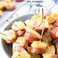 These Glazed Kielbasa Bites are the perfect make ahead, bite-sized appetizer. It has a sweet and salty flavor that people can't stop eating!