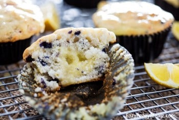 Blueberry Sour Cream Lemon Muffins