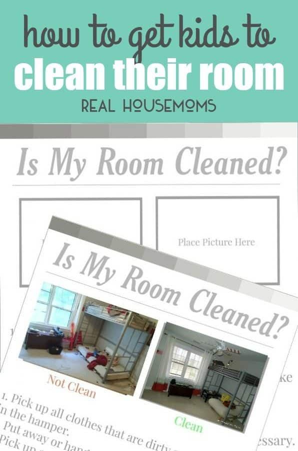 If you're wondering HOW TO GET KIDS TO CLEAN THEIR ROOM the proper way, download this visual checklist to help your children learn to get it right the first time!