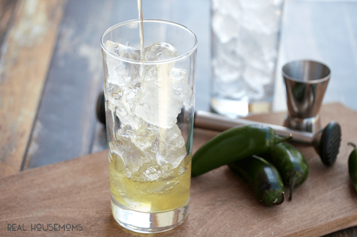 This slightly spicy JALAPEÑO LYNCHBURG LEMONADE is a balanced combo of sweet and sour. Perfect for sipping on the patio or by the pool!