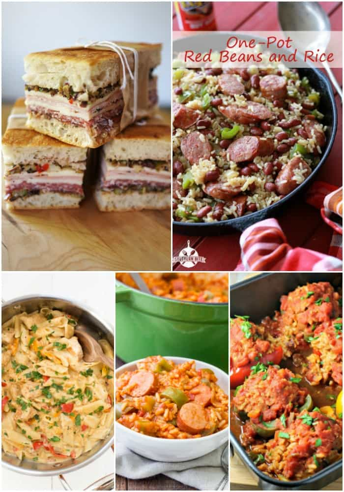 collage of mardi gras recipe with big flavor