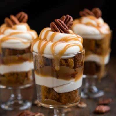 Mini Caramel Pecan Pumpkin Trifles