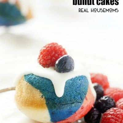 Mini Red. White, and Blueberry Bundt Cakes
