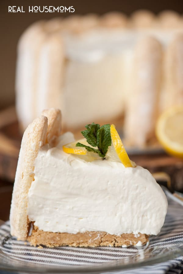 Perfect for a any celebration, this perfectly sweet NO BAKE LEMON LADYFINGER CHEESECAKE is a wonderful citrus dessert that everyone will love!