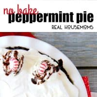 Don't stress about your holiday dessert, this No Bake Peppermint Pie is so easy to throw together and uses seasonal peppermint ice cream as the base!