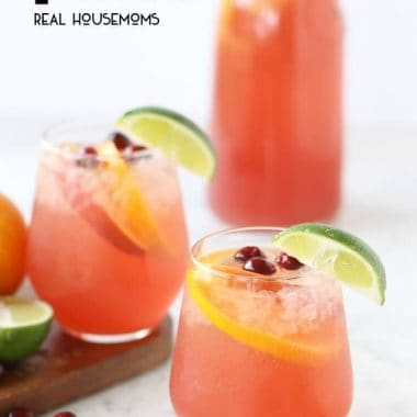 Orange Cranberry Holiday Party Punch