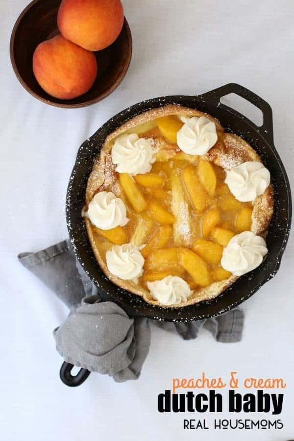 Peaches & Cream Dutch Baby ⋆ Real Housemoms