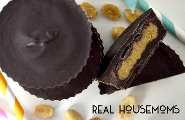 These HOMEMADE PEANUT BUTTER CUPS are so close to the original, you might not even know the difference!