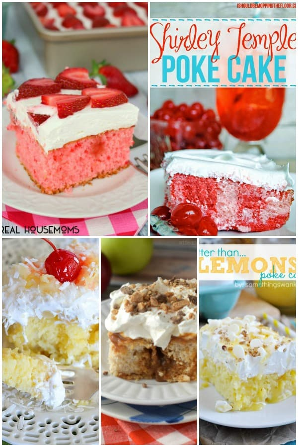 These 25 POKE CAKES will make your head spin and your jaw drop! There's a flavor for everyone, so grab a fork and dig in!