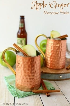 Apple Ginger Moscow Mule at Delightful E Made