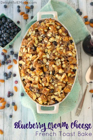 Blueberry Cream Cheese French Toast Bake by Delightful E Made