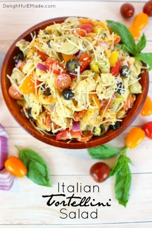 Italian Tortellini Salad by Delightful E Made