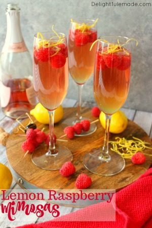 Lemon Raspberry Mimosas by Delightful E Made