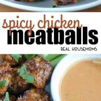 Spicy Chicken Meatballs with honey glaze & Buffalo Ranch Dipping Sauce make a great appetizer that's perfect for every occasion from parties and game day!