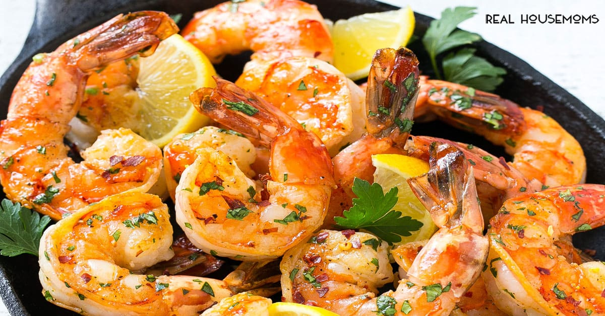 Spicy Garlic Shrimp Shrimp Recipes Real Housemoms