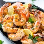 Spicy Garlic Shrimp has bold flavors and only takes 5 minutes to cook! This recipe is the best shrimp dish I've ever had, hands down!