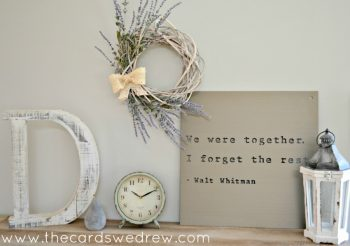 Farmhouse Wreath | The Cards We Drew