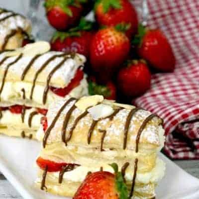 Strawberry Cheesecake Napoleons
