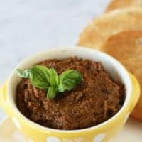 SUN DRIED TOMATO PESTO makes a delicious appetizer that can be used on pasta and pizza too!