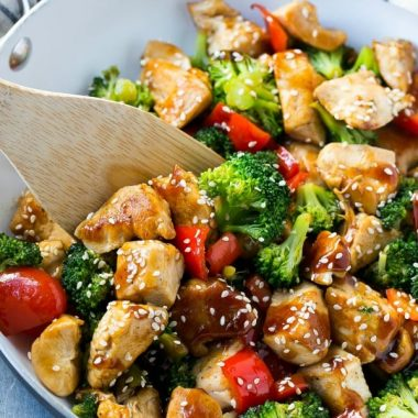 This teriyaki chicken and vegetables is an easy and healthy meal that's perfect for a busy weeknight!