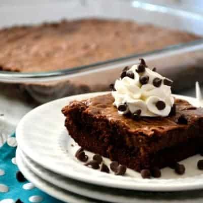 Triple Chocolate Gooey Cake