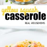 This Yellow Squash Casserole is the ultimate comfort food! It can be prepped ahead of time and popped in the oven just before dinner!